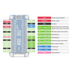 WaveShare 7.5inch E-Paper E-Ink Display Module (B) for Raspberry Pi Pico 800x480 Red Black White SPI
