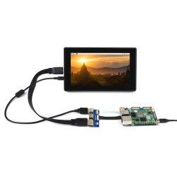 WaveShare CM4-IO-BASE-B + USB HDMI Adapter for Raspberry...