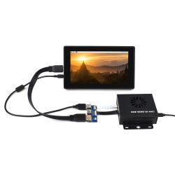 WaveShare CM4-IO-BASE-BOX-B + USB HDMI Adapter for...