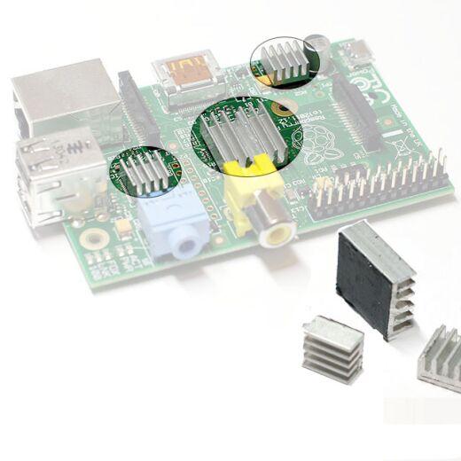 3x Kühlkörper for Raspberry Pi Kühler für Leistung-Behalten / Übertackten