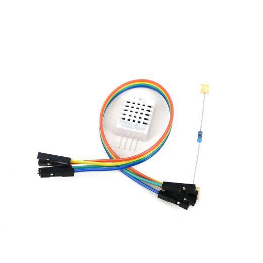 DHT22 AM2302 Digital Temperatur Feuchtigkeit Sensor mit Kabel und 4,7 kOhm Widerstand
