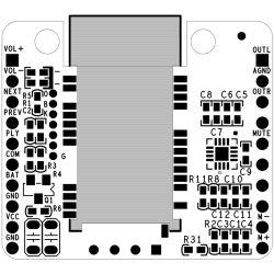 3,3V Mini CSR8645 APTx Hifi Bluetooth 4,0 Receiver board(no DC)
