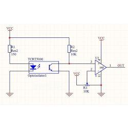 10Stk. TCRT5000 Infrarot Reflektierende Sensor TCRT5000L IR 950mm 5V 3A