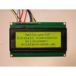 Character 20x4 LCD Display Module 2004 Black on Green 5V Header Strip
