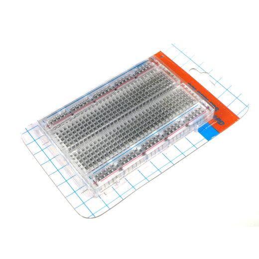 Transparent Steckbrett Breadboard 400 Pins Kontakte für Arduino Raspberry Pi Projekte