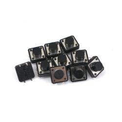 10 Stk. 7x12x12mm DIP-4 Drucktaster Eingabetaster AC 250V...