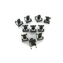 10 Stk. 6x6x6mm DIP-4 mini Drucktaster Eingabetaster AC...