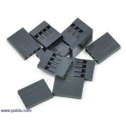 "0.1"" (2.54mm) Crimp Connector Housing: 1x4-Pin..."