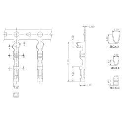 "Female Crimp Pins for 0.1"" Housings 100-Pack, Arbeiten mit 22 bis 28AWG Drähten"