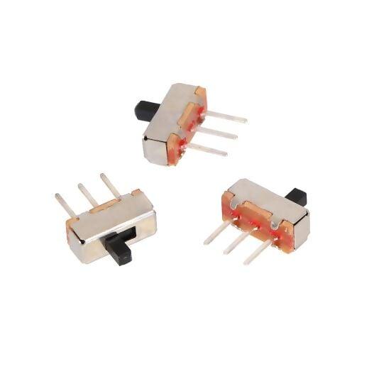 Mini Slide Switch: 3-Pin, SPDT, 0.3A (3-Pack) 300mA @50VDC