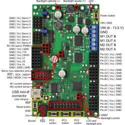 Pololu Orangutan SVP-324 Robot Controller (assembled)