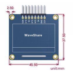 Waveshare 1.3 inch 128x64 OLED SPI I2C Interfaces vertical pinheader SH1106