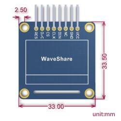 Waveshare 0.96 inch 128x64 OLED SPI I2C Interfaces vertical pinheader SSD1306