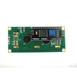 Character 16x2 LCD Display Module 1602 Black on Green 5V I2C Interface HD44780