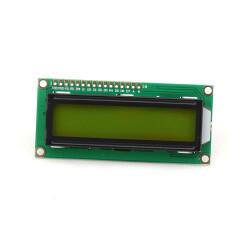 Character 16x2 LCD Display Module 1602 Black on Green 5V Header Strip
