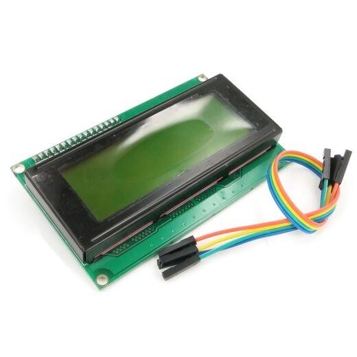 Character 20x4 LCD Display Module 2004 Black on Green 5V I2C Interface mit HD44780