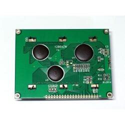 Graphic 128x64 LCD Display Module 12864 White on Blue 5V Header Strip