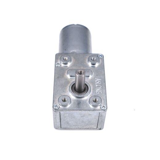 V-TEC 12V 6mm Antriebwelle DC Motor Gleichstrom Schneckengetriebemotor 19 RPM