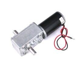 V-TEC 12V 7mm Dual Antriebwelle DC Motor Gleichstrom Schneckengetriebemotor 13 RPM
