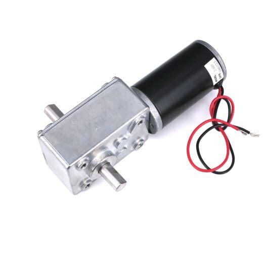 V-TEC 24V 7mm Dual Antriebwelle DC Motor Gleichstrom Schneckengetriebemotor 258 RPM