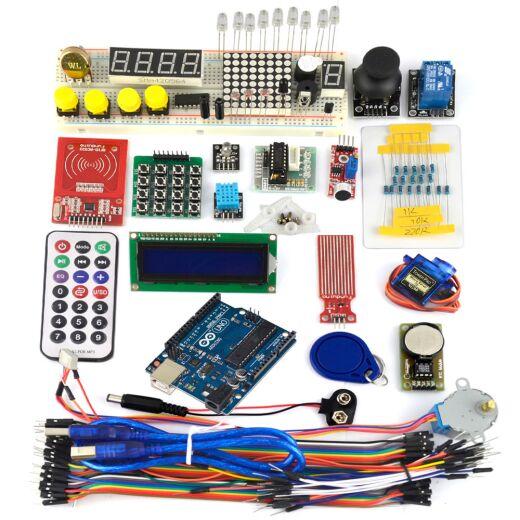 UNO R3 Arduino Starter Kit (D) RFID LCD  ULN2003 Dotmatix Joystick Relais Sensor