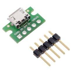 Pololu USB Micro-B Connector Breakout Board